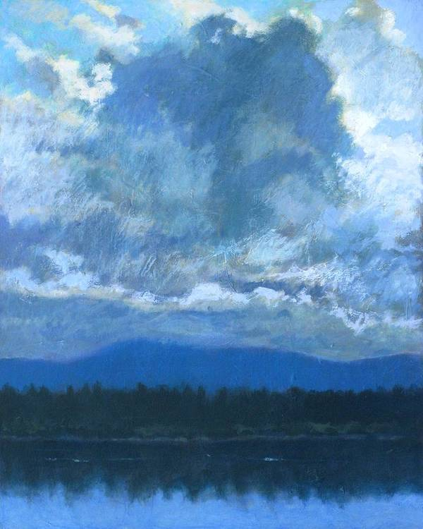 Cloud Poster featuring the painting Clouds On The Kootenai by Robert Bissett