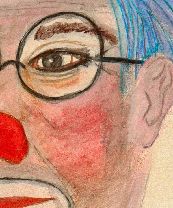 Norbeck Poster featuring the painting Clown With Glasses by Thomas J Norbeck
