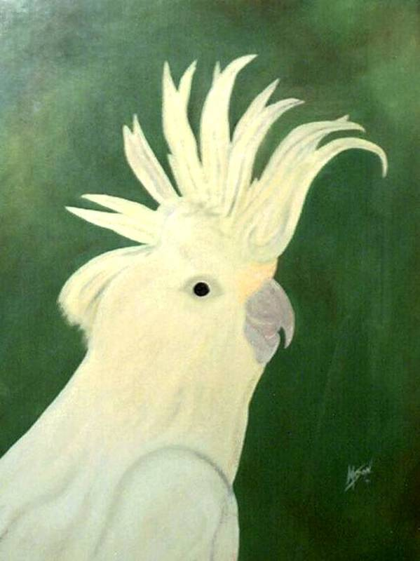 Bird Poster featuring the painting Cockatoo by Guillermo Mason
