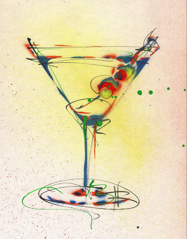 Cocktail Poster featuring the painting Cocktail #5 by Ryan Hopkins