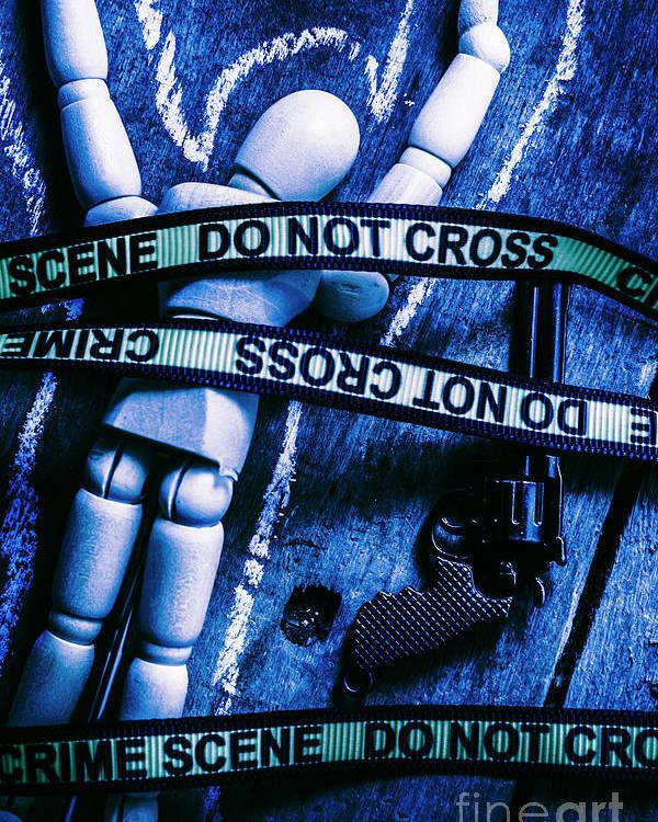 Gun Poster featuring the photograph Code Blue Csi by Jorgo Photography - Wall Art Gallery