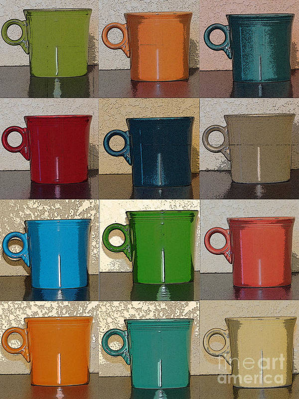 Coffee Poster featuring the photograph Coffee Cups by Anissia Hedrick
