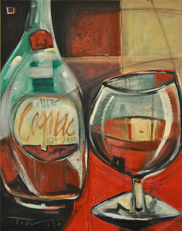 Alcohol Poster featuring the painting Cognac by Tim Nyberg