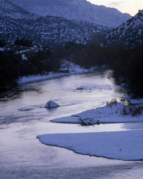 Landscape Poster featuring the photograph Cold And Blue by Lynard Stroud