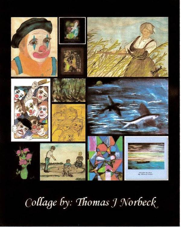 Thomas Norbeck Poster featuring the mixed media Collage by Thomas J Norbeck