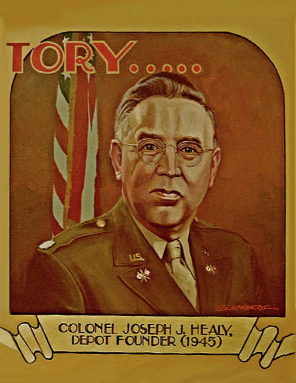 Colonel Joseph J Healy Poster featuring the painting Colonel Joseph J. Healy by Dean Gleisberg