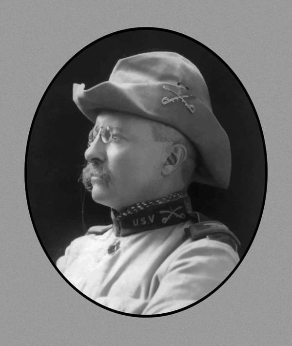 Teddy Roosevelt Poster featuring the painting Colonel Roosevelt by War Is Hell Store
