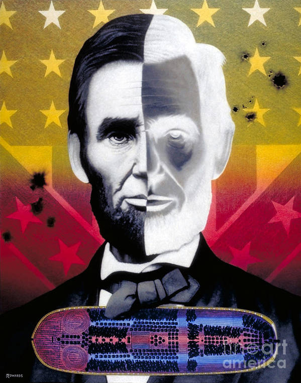 Civil War Poster featuring the painting Color In Black And White by Ross Edwards
