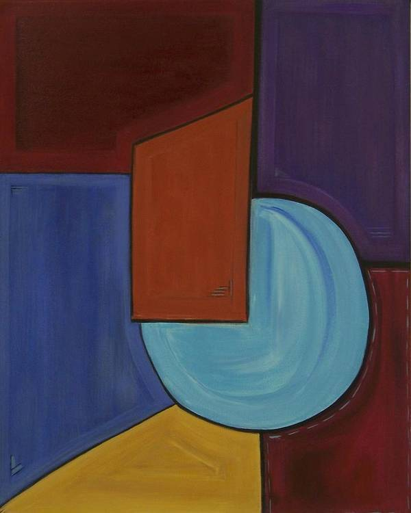 Geometric Abstract Poster featuring the painting Color Me Happy by Sandy Bostelman