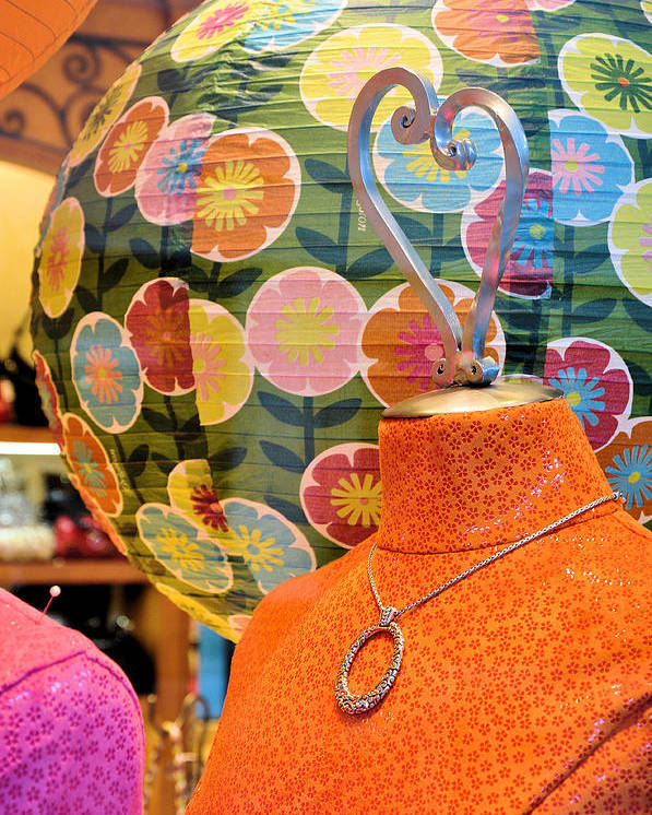 Mannequins Poster featuring the photograph Color Me Orange by Jan Amiss Photography