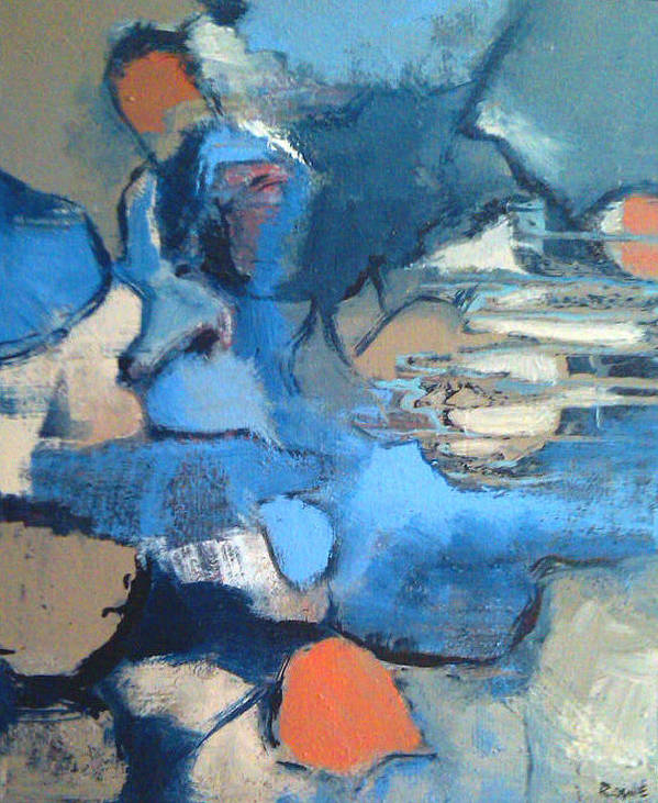 Abstract Poster featuring the painting Colorado River by Renee Rowe
