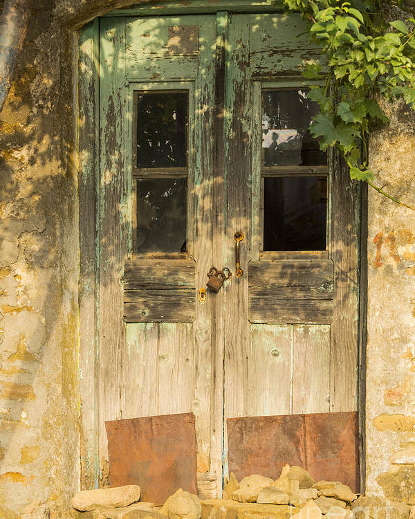 Zeytinli Poster featuring the photograph Colorful Zeytinli Village Door by Bob Phillips
