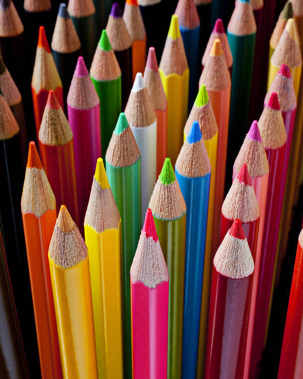 Pencil Poster featuring the photograph Colored Pencils by Garry Gay