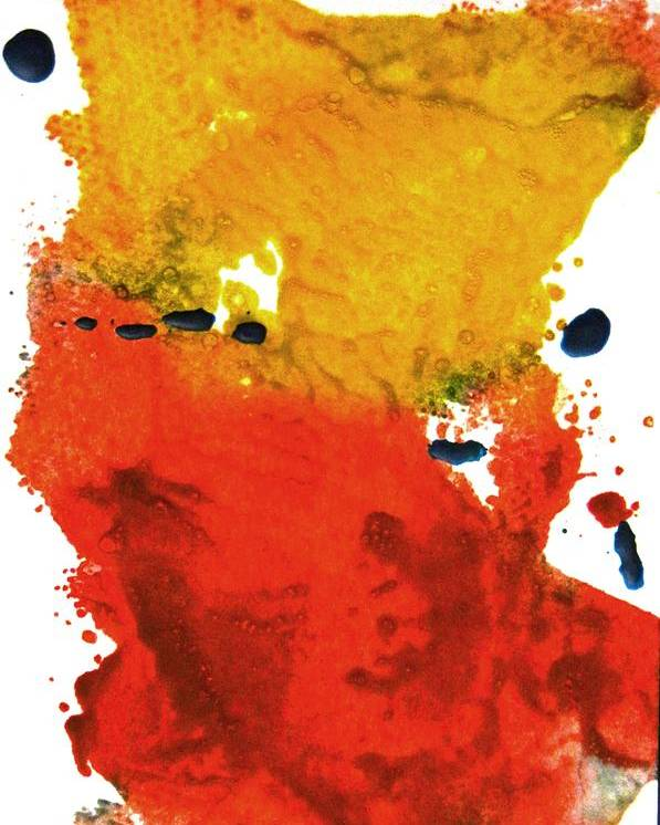 Abstract Poster featuring the painting Colorfield by Kruti Shah