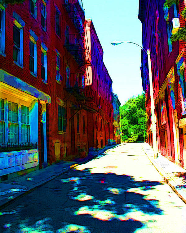 Street Poster featuring the photograph Colorful Place To Live by Julie Lueders