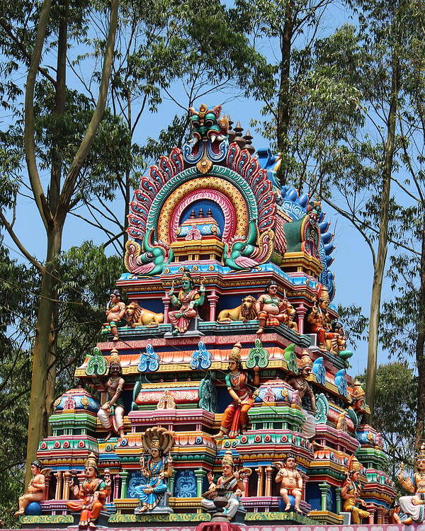 Valparai Poster featuring the photograph Colorful Temple, Valparai by Jennifer Mazzucco