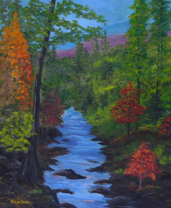 Autumn Poster featuring the painting Colors Of The Blue Ridge by Sally Jones