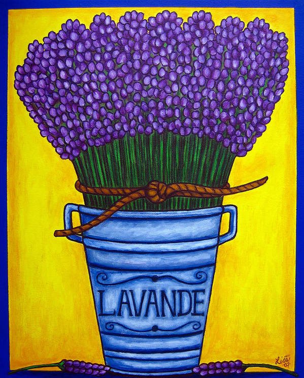 Antique Poster featuring the painting Colours Of Provence by Lisa Lorenz