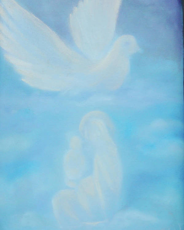 Dove Poster featuring the painting Come Unto Me by Darlene Green