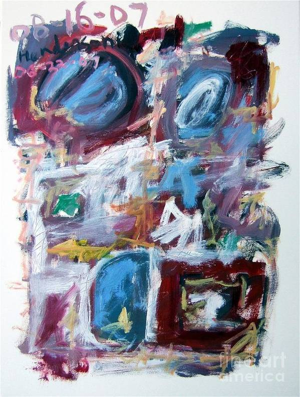Abstract Poster featuring the painting Composition No. 10 by Michael Henderson