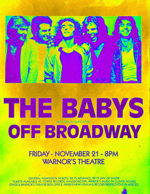 The Babys Poster featuring the photograph Concert Poster 2 by Kevin B Bohner