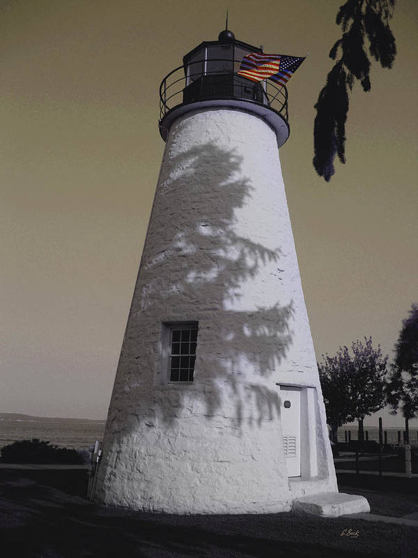 Concord Point Poster featuring the photograph Concord Point Light by Gordon Beck