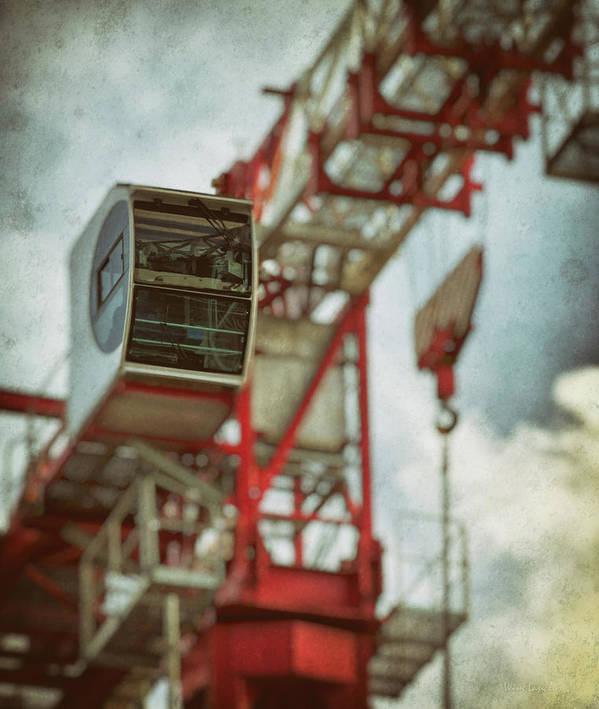 Construction Crane Poster featuring the photograph Construction Crane by Wim Lanclus