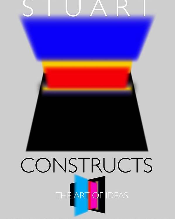 De Stijl Poster featuring the painting Constuctivist Poster by Charles Stuart