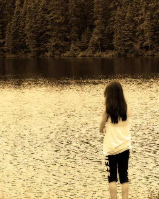 Sepia Poster featuring the photograph Contemplation by Cathy Beharriell