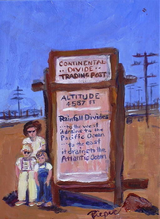 Continental Divide Poster featuring the painting Continental Divide by Elzbieta Zemaitis