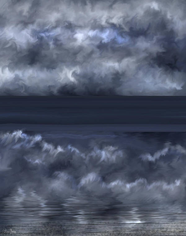Seascape Poster featuring the painting Convergence Zone by Anne Norskog