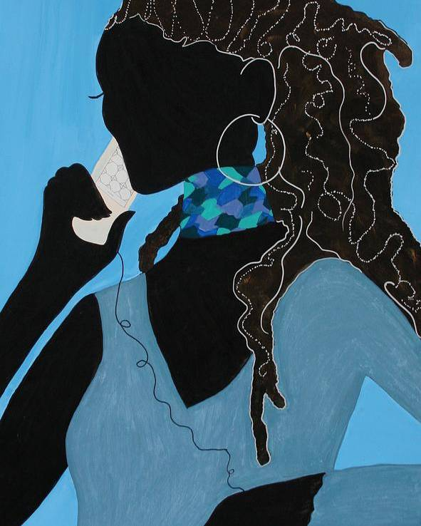 Acrylic Painting Poster featuring the painting Conversation by Shiree Gilmore