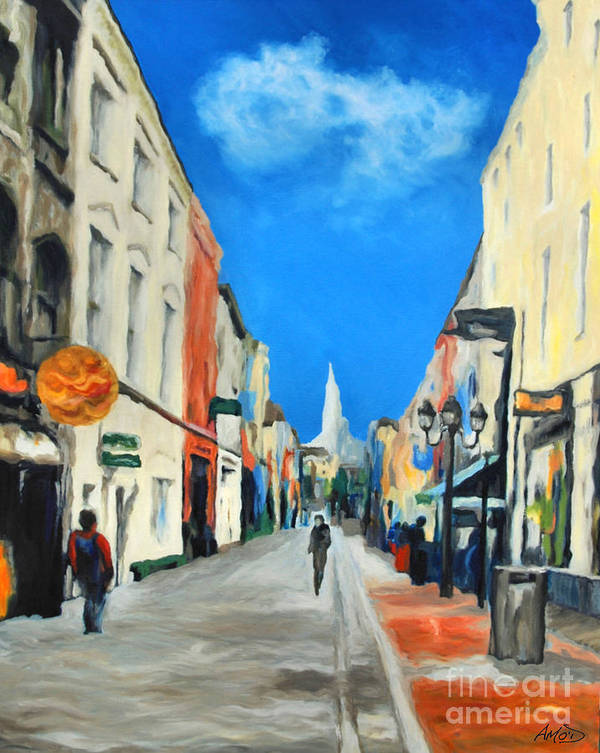 Architectural Poster featuring the painting Cook Street  Cork Ireland by Anne Marie ODriscoll