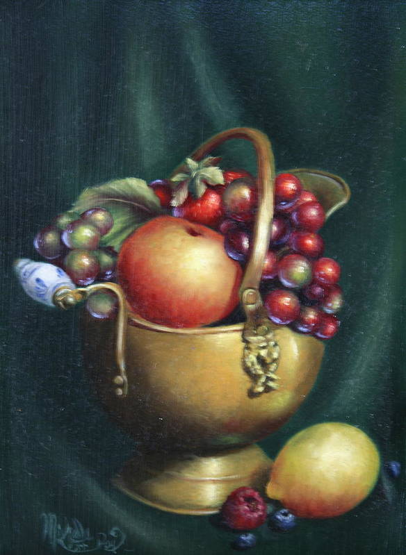Still Life Poster featuring the painting Copper by Michelle Kerr