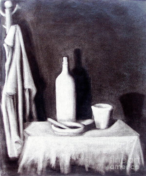 Interior Poster featuring the painting Corner Table by Sonsoles Shack