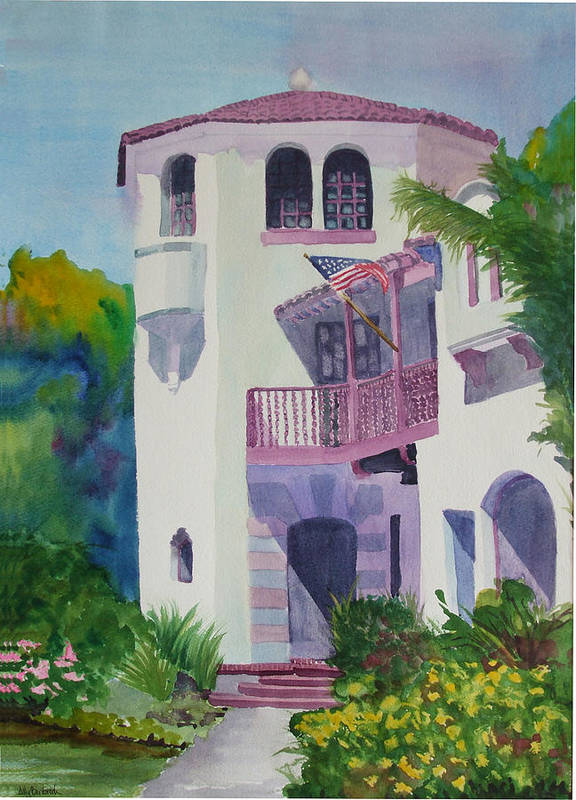 Coronado Poster featuring the painting Coronado Lady by Ally Benbrook
