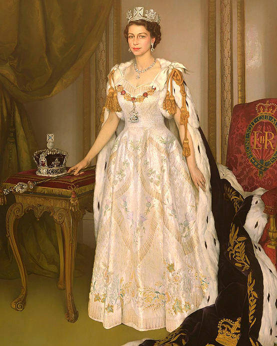 coronation portrait of queen elizabeth ii of the united kingdom poster by mountain dreams coronation portrait of queen elizabeth ii of the united kingdom poster