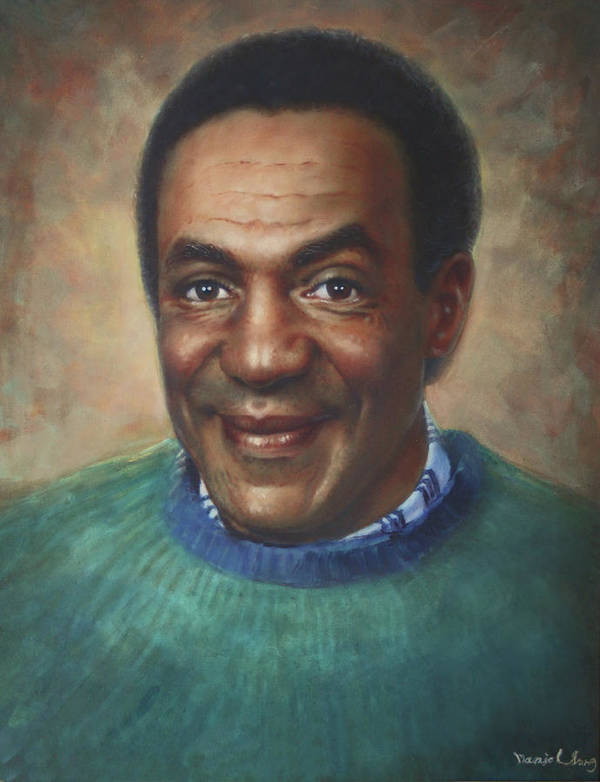 Poster featuring the painting Cosby by Daniel Shiho Song
