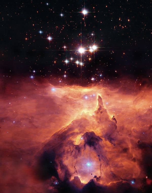 Outer Space Poster featuring the photograph Cosmic Cave by Jennifer Rondinelli Reilly - Fine Art Photography