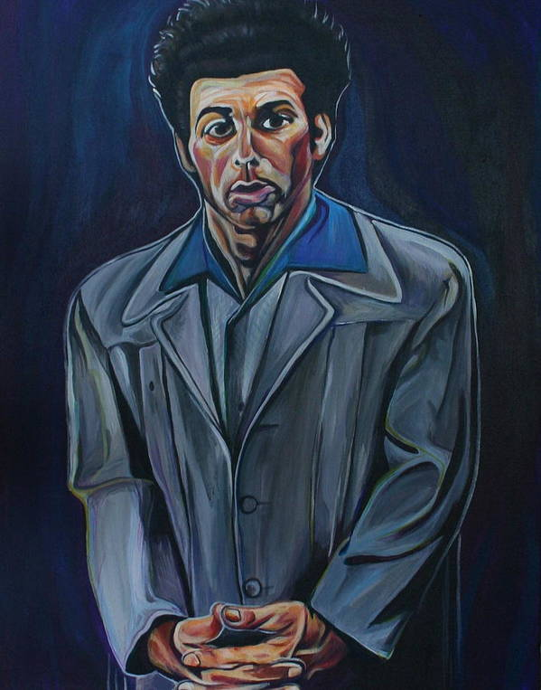 Michael Richards Poster featuring the painting Cosmo by Kate Fortin