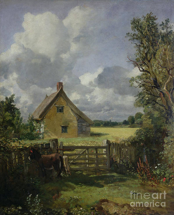 Cottage Poster featuring the painting Cottage In A Cornfield by John Constable