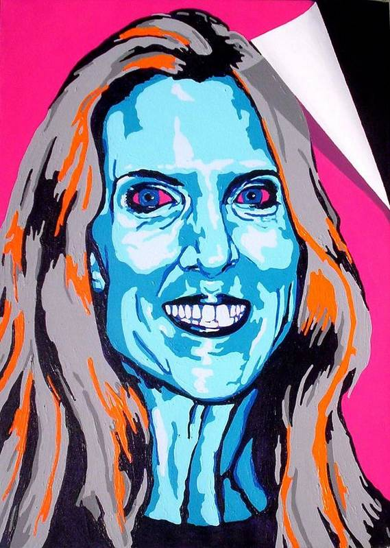 Politics Poster featuring the painting Coulter by Dennis McCann