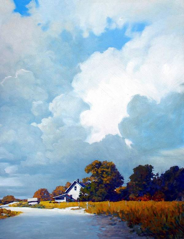 Landscape Poster featuring the painting Country Home by Kevin Lawrence Leveque