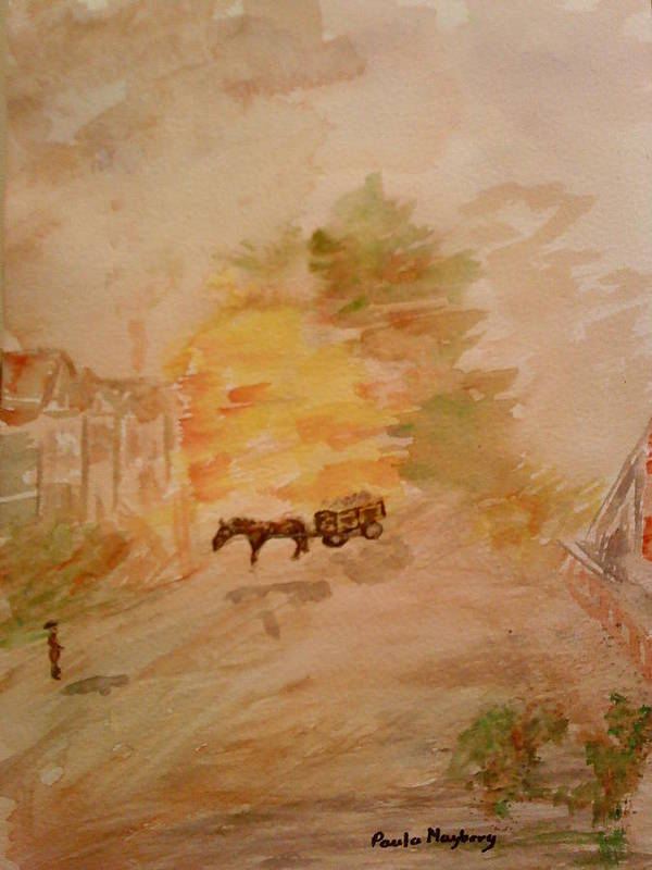 Country Life Poster featuring the painting Country Life by Paula Maybery