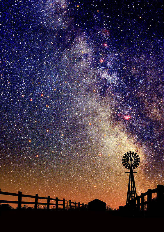 Milky Way Poster featuring the photograph Country Milky Way by Larry Landolfi