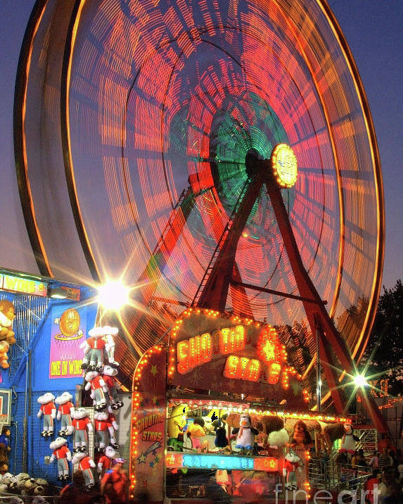 Poster featuring the photograph County Fair Ferris Wheel 2 by Corky Willis Atlanta Photography