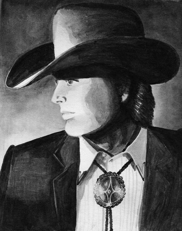 Cowboy Poster featuring the painting Cowboy by Sharon Crawford