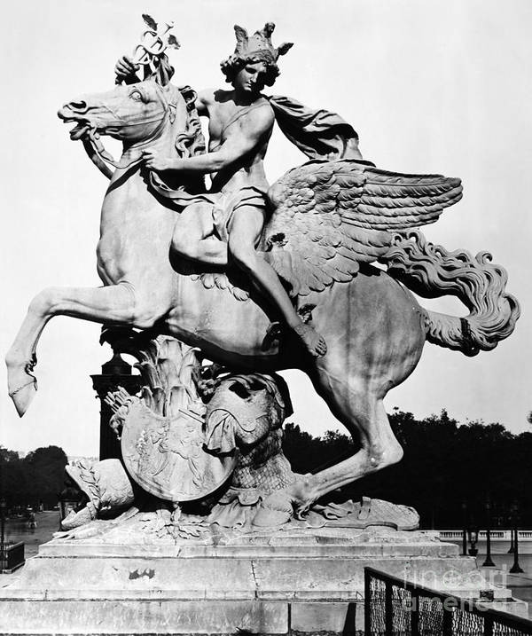 1699 Poster featuring the photograph Coysevox: Mercury & Pegasus by Granger