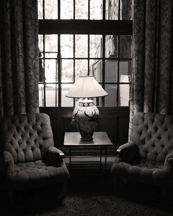 Chairs Poster featuring the photograph Cozy by Joanne Coyle