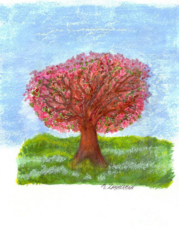 Tree Of Life Poster featuring the painting Cranberry Melody by Mary Zimmerman